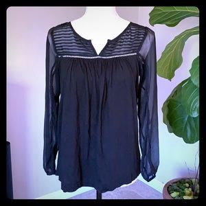 Lucky Brand Decorative neckline and sleeves
